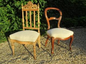 Chaise Napoleon III et Louis Philippe